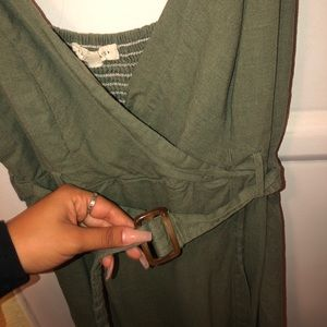 olive green dress from LA HEARTS (pacsun)